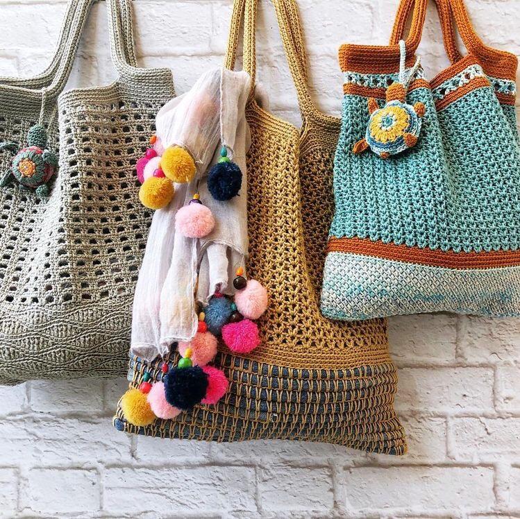 Örgü Çanta Modelleri-Crochet Çantalar